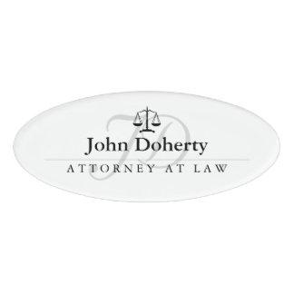 Badge D'identification Échelles de justice   élégant