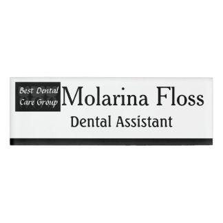Badge D'identification Étiquette sage de nom de dentiste de trois dents