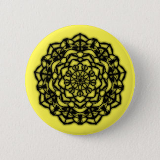 Badge fleurs jaune remastered
