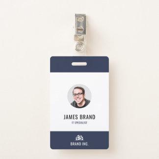 Badge Identification moderne d'affaires