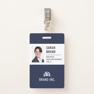 Badge Identification moderne d'entreprise constituée en