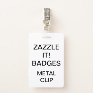 Badge INSIGNE d'AGRAFE personnalisé par coutume EN MÉTAL