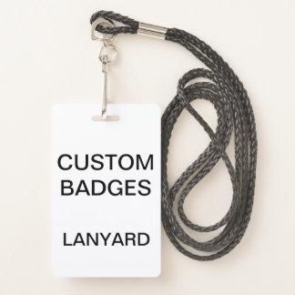 Badge INSIGNE de LANIÈRE personnalisé par coutume