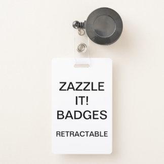 Badge INSIGNE ESCAMOTABLE d'AGRAFE personnalisé par