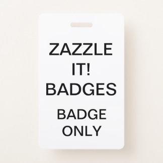 Badge Modèle de blanc d'INSIGNE personnalisé par coutume
