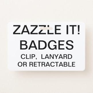Badge Modèle d'INSIGNE de LANIÈRE personnalisé par