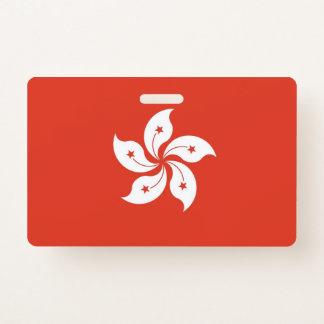 Badge nominatif avec le drapeau de Hong Kong