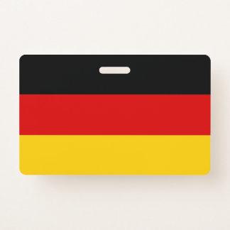 Badge nominatif avec le drapeau de l'Allemagne