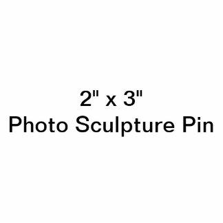 """Badge Photo Sculpture Coutume 2"""" x 3"""" Pin de sculpture en photo"""