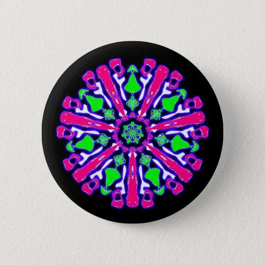 Badge psychédélique coloré n°4