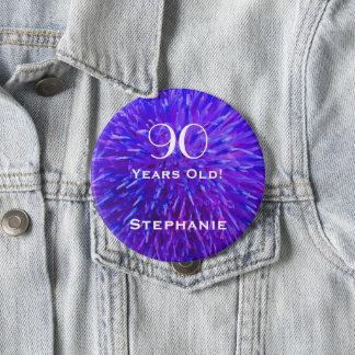 Badge Rond 10 Cm 90 années ont personnalisé le bouton abstrait de