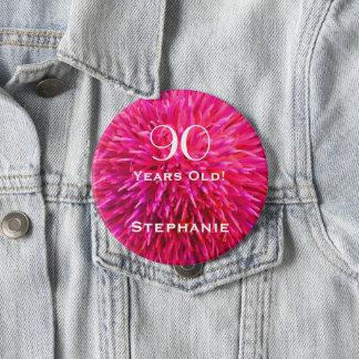 Badge Rond 10 Cm 90 années ont personnalisé le Pin abstrait de