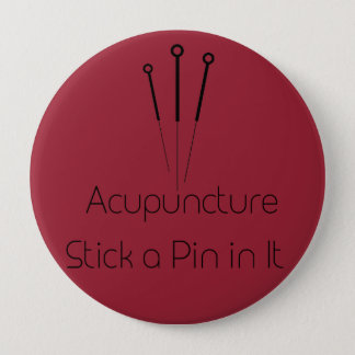 Badge Rond 10 Cm Acuponcture