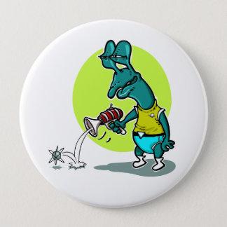 Badge Rond 10 Cm bande dessinée simple d'électron de pousse
