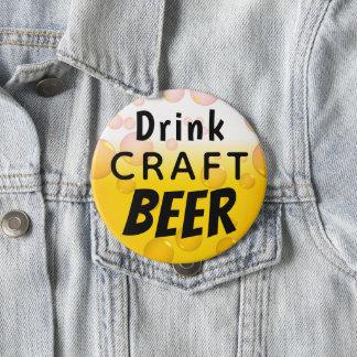 Badge Rond 10 Cm Bière de métier de boissons