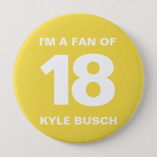 Badge Rond 10 Cm Bouton | 4 de fan de Kyle Busch PO. Bouton