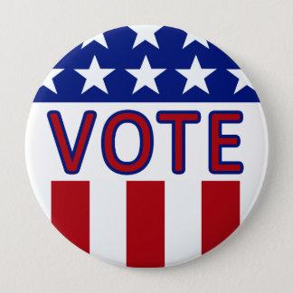 Badge Rond 10 Cm Bouton de bannière étoilée de vote