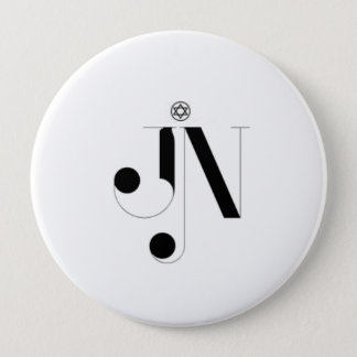 Badge Rond 10 Cm Bouton énorme de logo de magazine de JN