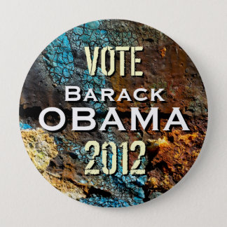 Badge Rond 10 Cm Bouton grunge moderne de campagne d'Obama 2012 de