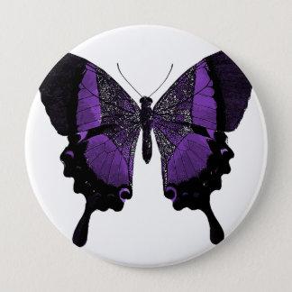Badge Rond 10 Cm Bouton pourpre de papillon
