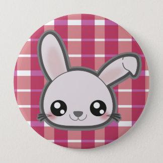Badge Rond 10 Cm Bouton rond de lapin drôle de Kawaii