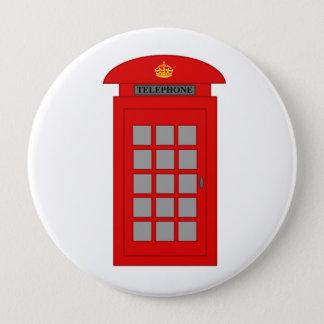 Badge Rond 10 Cm Cabine téléphonique britannique