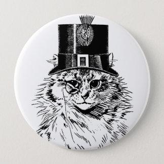 Badge Rond 10 Cm casquette supérieur de chat de minou de steampunk