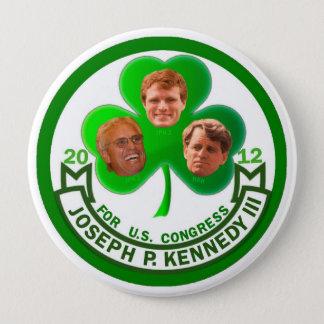 Badge Rond 10 Cm Chance de l'Irlandais : Joe Kennedy 3ème pour le
