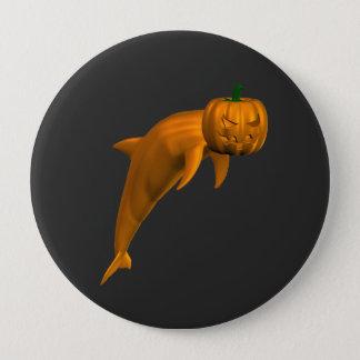 Badge Rond 10 Cm De dauphin étrange de Halloween