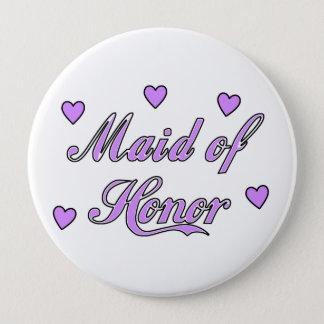 Badge Rond 10 Cm Domestique des coeurs de mariage d'honneur