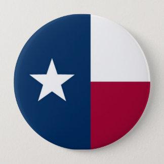 Badge Rond 10 Cm Drapeau d'état du Texas