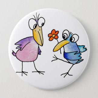 Badge Rond 10 Cm funny birds