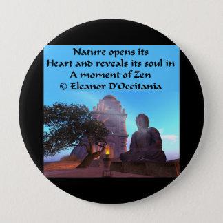 Badge Rond 10 Cm Haiku de zen de temple de Bouddha - bouton rond