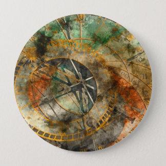 Badge Rond 10 Cm Horloge astronomique dans la République Tchèque de