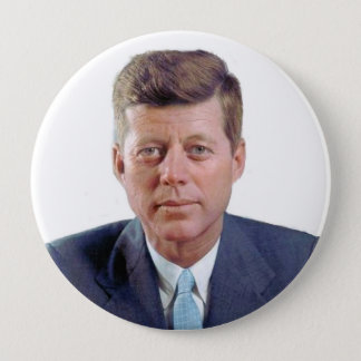Badge Rond 10 Cm JFK pour toujours