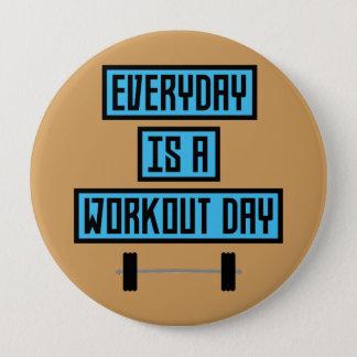 Badge Rond 10 Cm Jour quotidien Z852m de séance d'entraînement