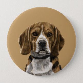 Badge Rond 10 Cm Le beagle a appelé Jones