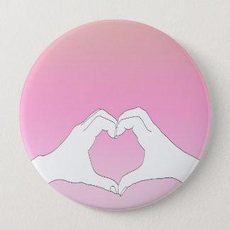 Badge Rond 10 Cm Le coeur remet le Pin