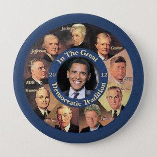 Badge Rond 10 Cm Le Président Obama 2012