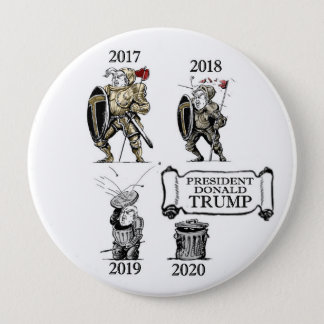Badge Rond 10 Cm L'évolution du Président Trump
