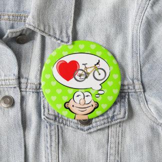Badge Rond 10 Cm Maître marcher en bicyclette