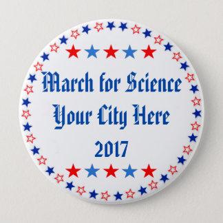 Badge Rond 10 Cm Mars pour la coutume de la Science