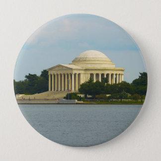 Badge Rond 10 Cm Mémorial de Jefferson dans le Washington DC