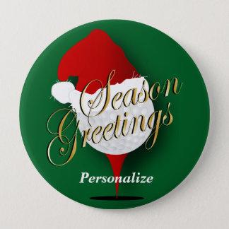 Badge Rond 10 Cm Noël de la boule de golf de salutations de saison