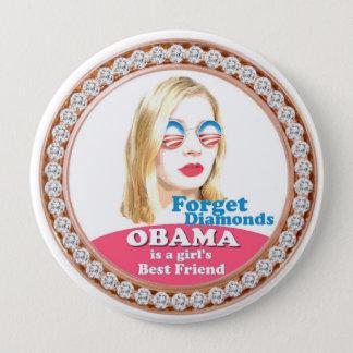 Badge Rond 10 Cm Obama est le meilleur ami d'une fille