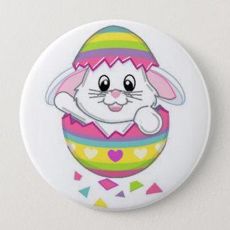 Badge Rond 10 Cm Pin de bouton de lapin de Pâques le ressort