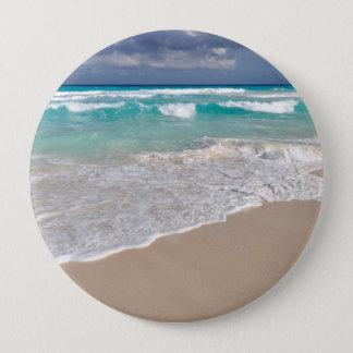 Badge Rond 10 Cm Plage tropicale et plage sablonneuse