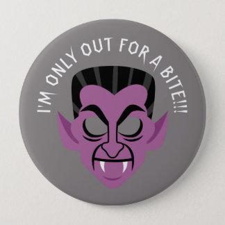 Badge Rond 10 Cm Pour un bouton de partie de Halloween de vampire