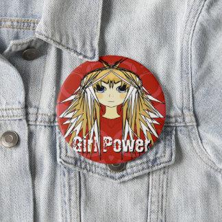 Badge Rond 10 Cm Puissance blonde ultra mignonne de rouge d'Anime