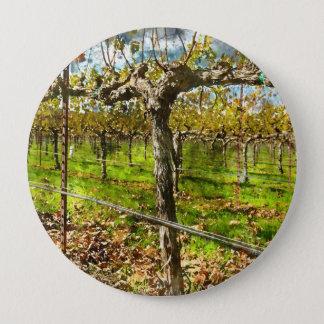 Badge Rond 10 Cm Rangées des vignes dans Napa Valley la Californie